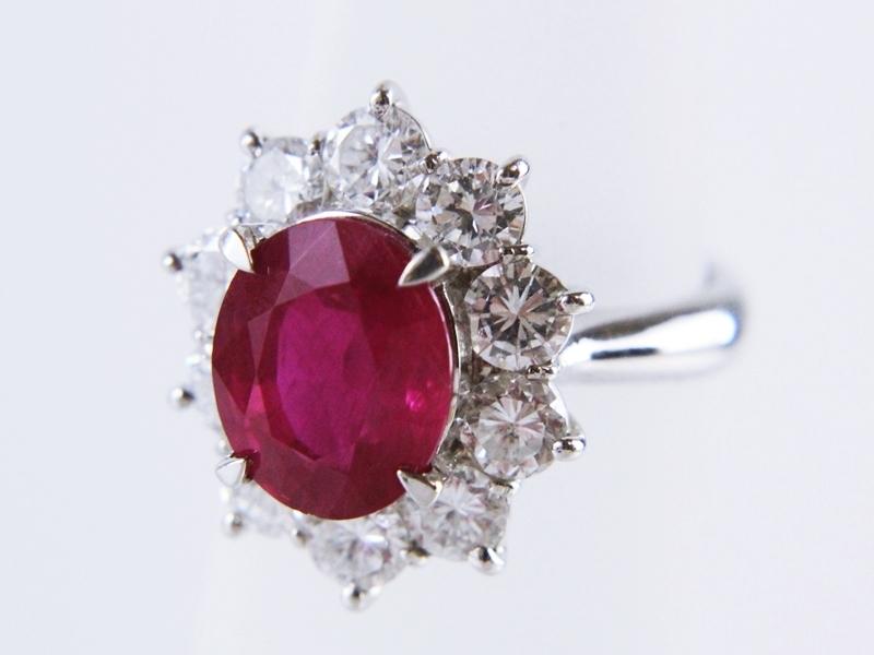 ルビーダイヤモンドリングの買取相場ー広島の質と買取のお店まるい